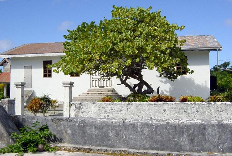 Le temple protestant de Makatea en 2009