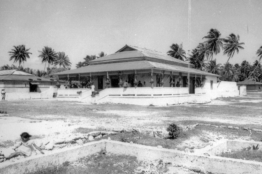 Chefferie (Mairie) de Niau en janvier 1967