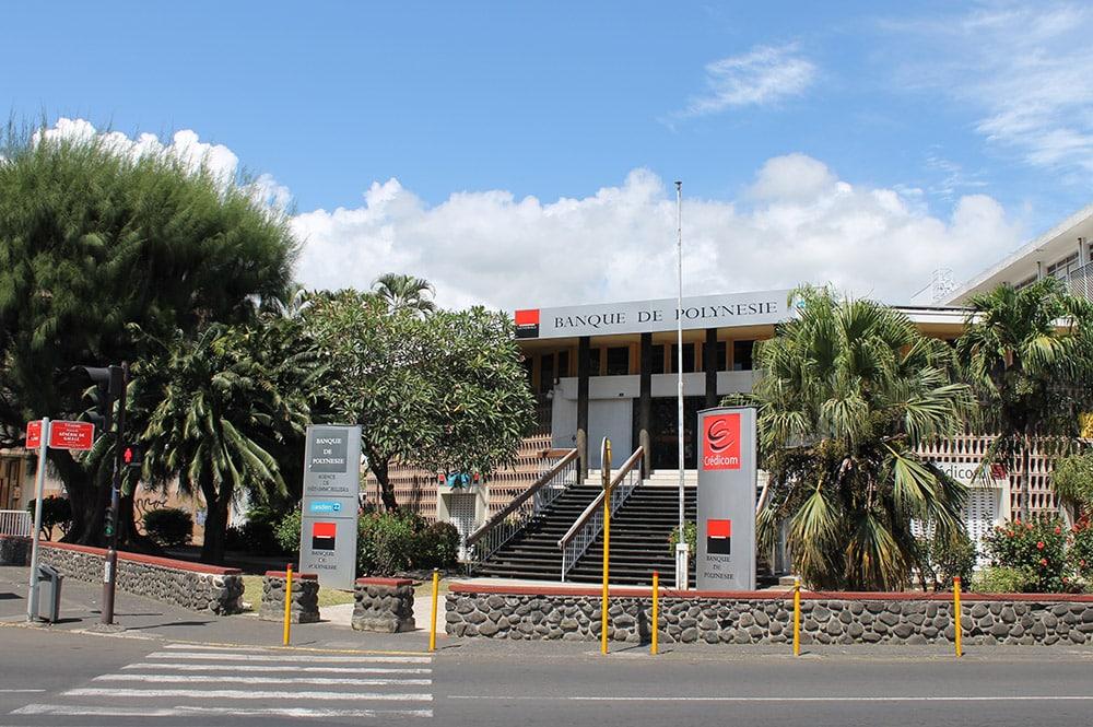 La Banque de Polynésie de la Cathédrale de Papeete en 2016
