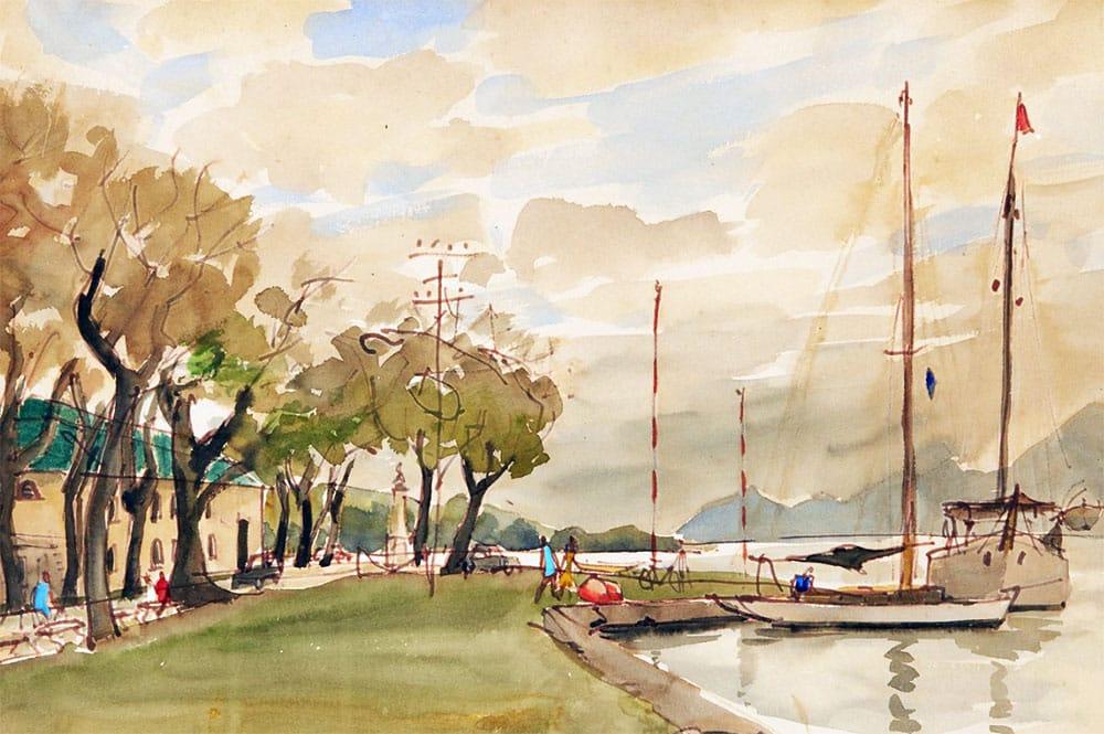 Luc-Marie Bayle. Le commandement de la marine, Papeete 1955.