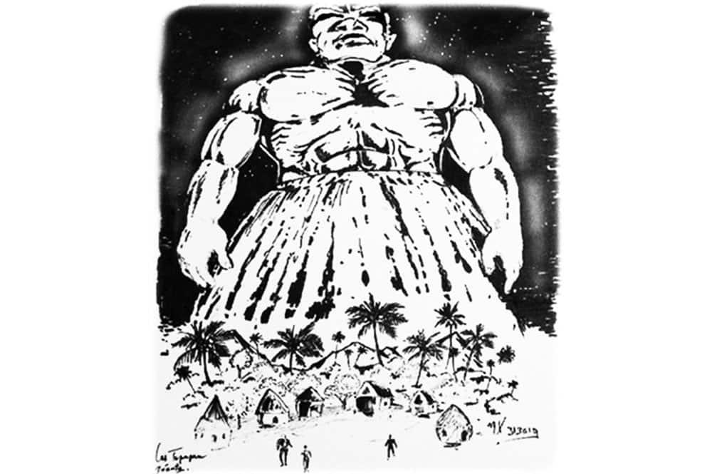 Tupapa'u géant .Illustration Xavier Tupapa'u géant .Illustration Xavier Manua
