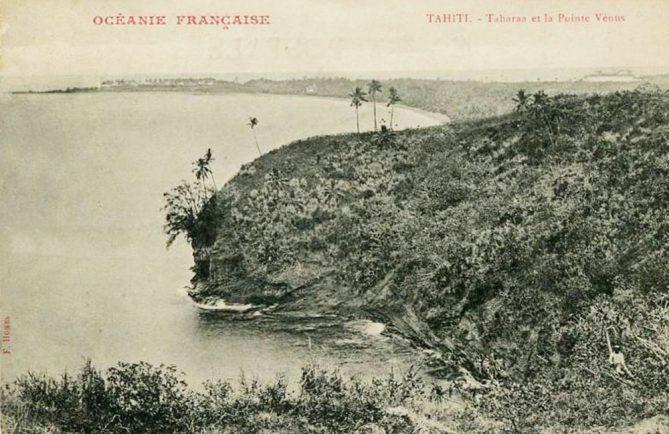 Pointe Tahara'a, entre Arue et Mahina en 1900. Photos Holmes