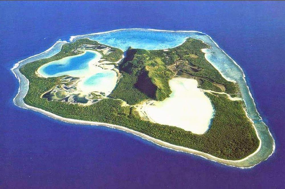 L'île de Maiao, vue du ciel.