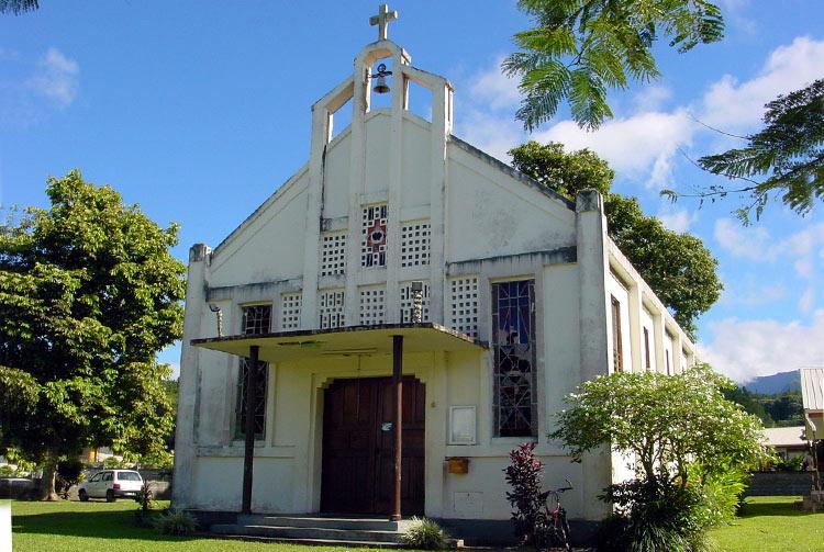 Ancienne église de Papeari en 2003 © Tahiti Heritage