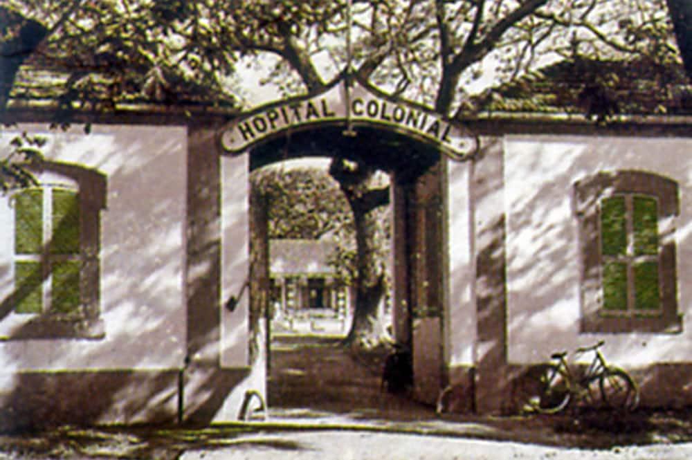 L'entrée de l'hôpital Colonial Vaiami de Tahiti