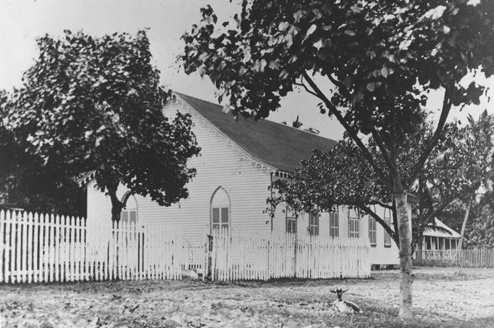 Le temple protestant de Paofai à Papeete en 1905