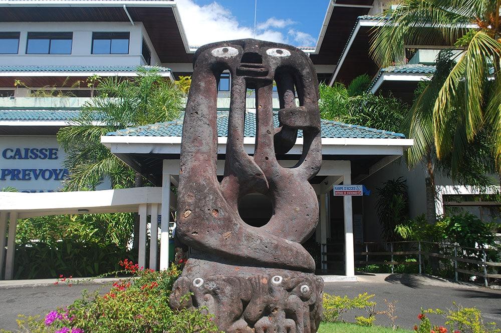Tiki de la CPS, à Mamao Papeete