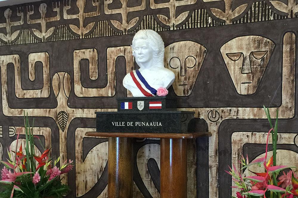 La Marianne de la Mairie de Punaauia à Tahiti