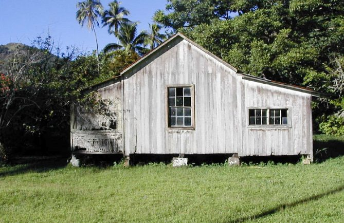 Maison d'Auguste et de Turia, à Rikitea Gambier. © Tahiti Heritage