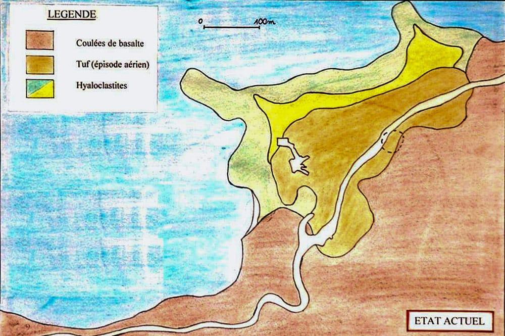 Géologie, la pointe du Tahara'a. Lycée Raapoto