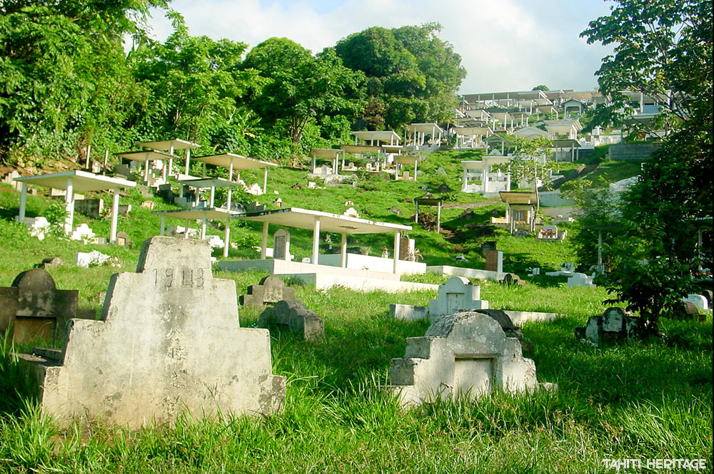 Cimetière chinois du repos éternel à Arue, Tahiti © Tahiti Heritage