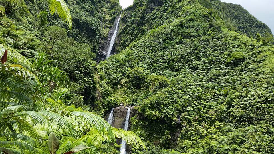 Cascades de la Faraura. Photo Chantal-Alexandre Tahiti Iti