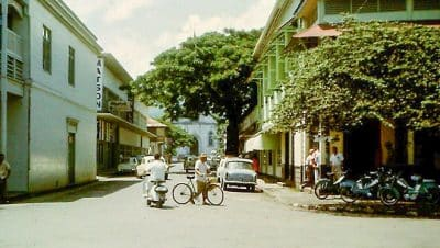 Rue Jeanne d'Arc à Papeete en 1965
