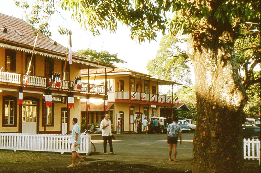 La mairie de Papeete en 1966. Photo MFE