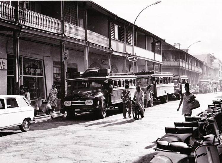 Le quartier du commerce en 1975