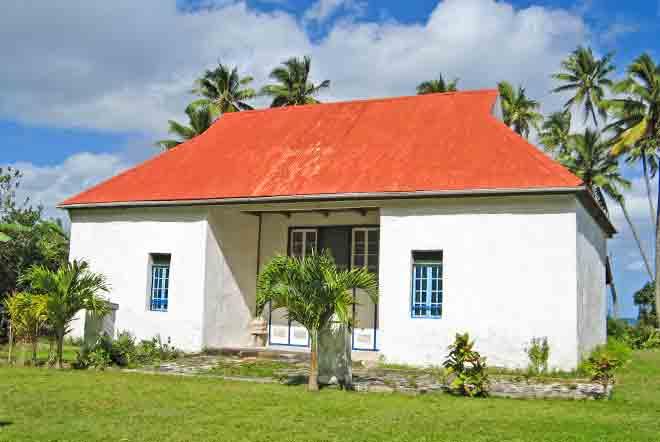 Presbytère de Taravai, Gambier. © Tahiti Heritage