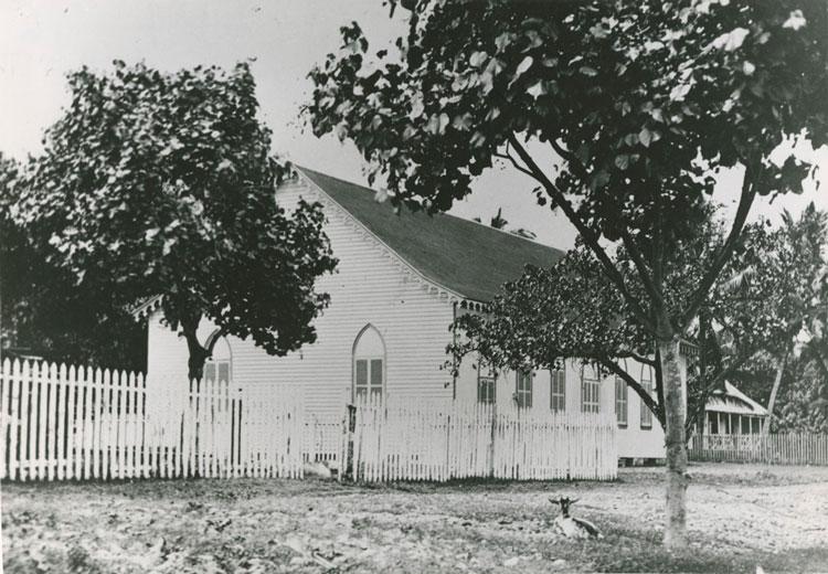 Le temple de Papeete en 1925