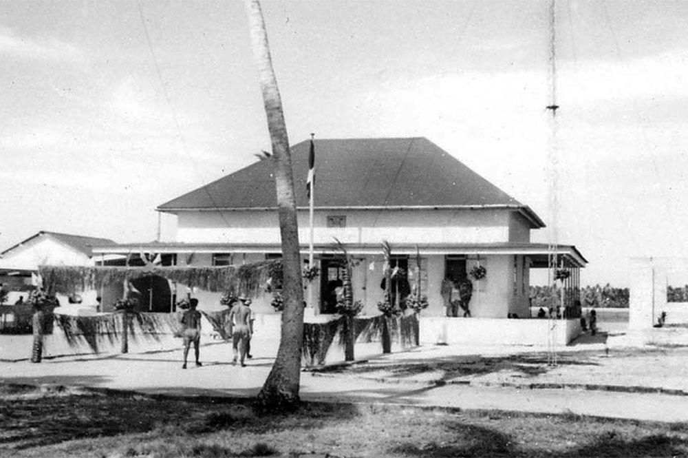 La mairie de Kauehi en 1967