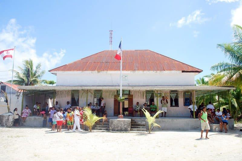 Mairie, ancienne chefferie, de Kauehi de la commune de Fakarava - Tuamotu - Polynésie française 2013 © Tahiti Heritage
