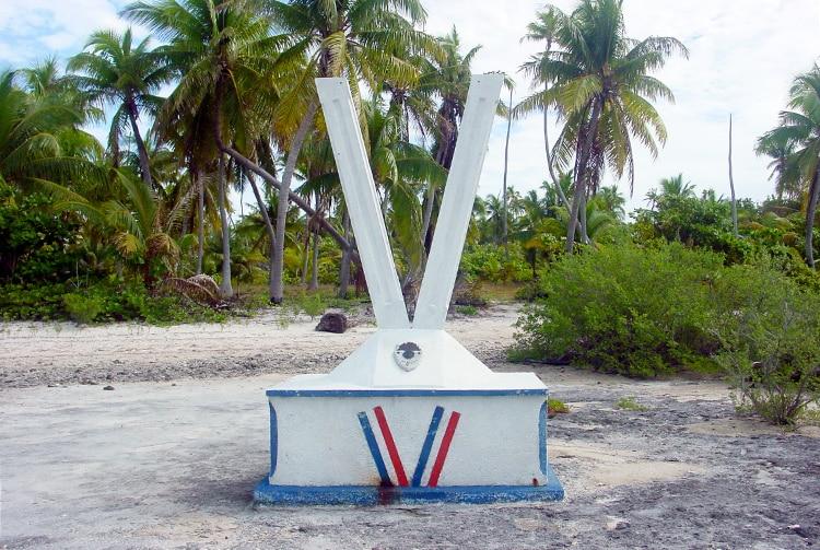 Stèle du gendarme Viry, Putuahara - Anaa