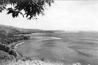 Baie d'Arue, vue du banc du gouverneur