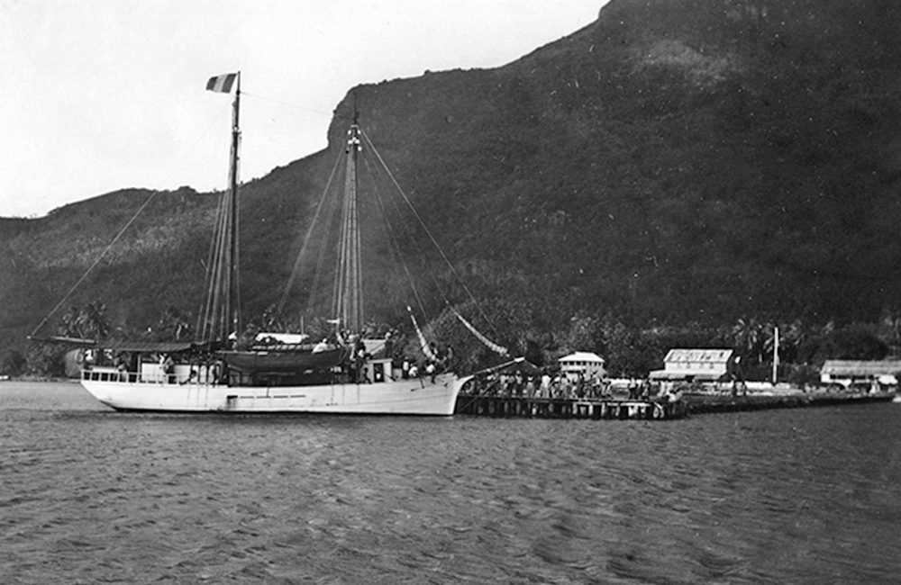 Quai de Vaitape à Bora Bora en 1938. Photo University de Hawai