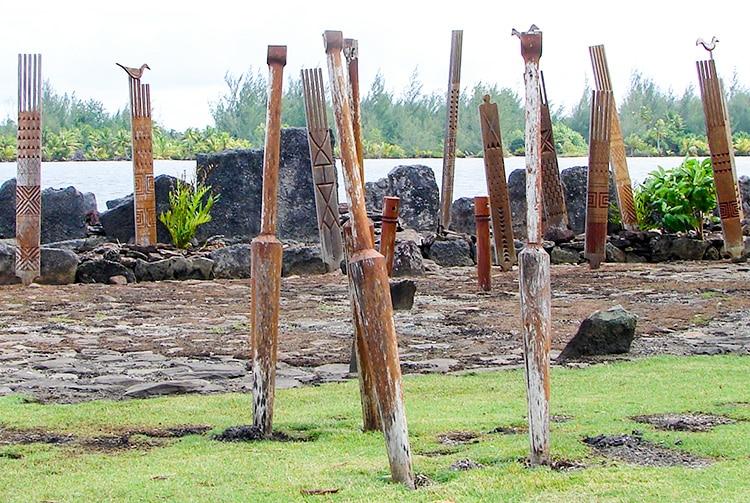 Marae Rauhuru à Maeva, Huahine