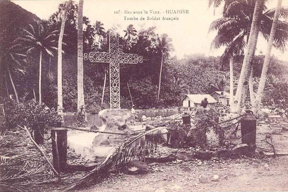 Tombe des marins du navire l'Uranie de Maeva - Huahine