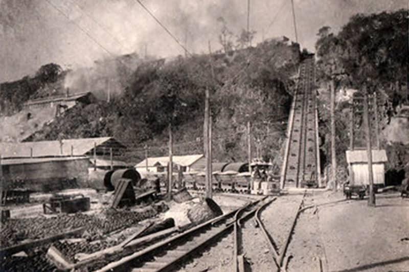 Plan incliné de Temao, à Makatea dans les années 1920