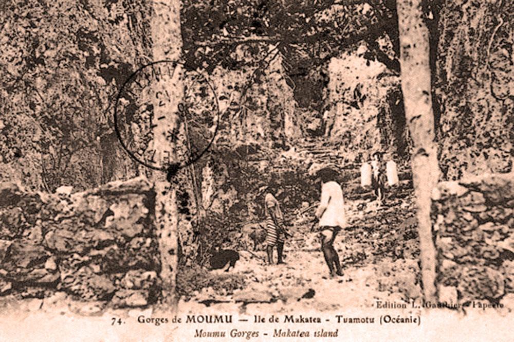 Gorges de Moumu, à Makatea. Photo Lucien Gauthier