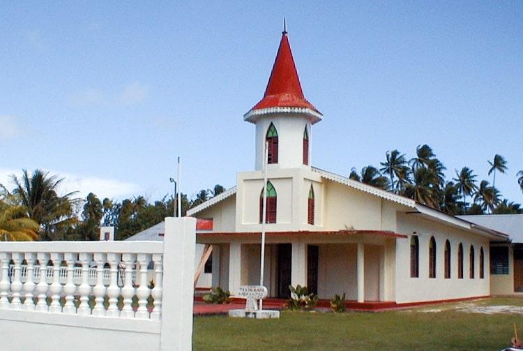 Eglise sanito de Tuherahera à Tikehau