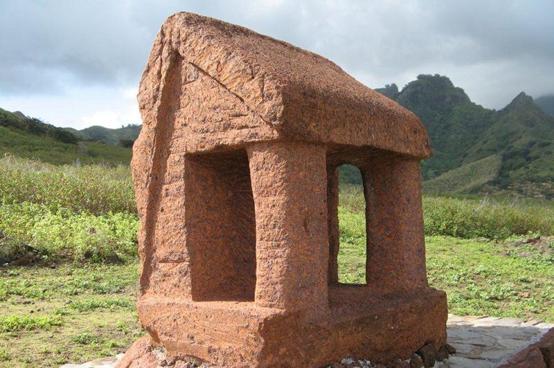 monument des déportés de Raiatea, à Ua Huka © Tahiti Heritage
