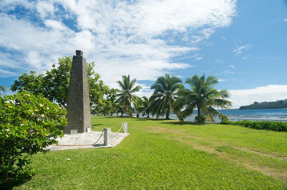 Obélisque de la Pointe Outuaiai, à Arue