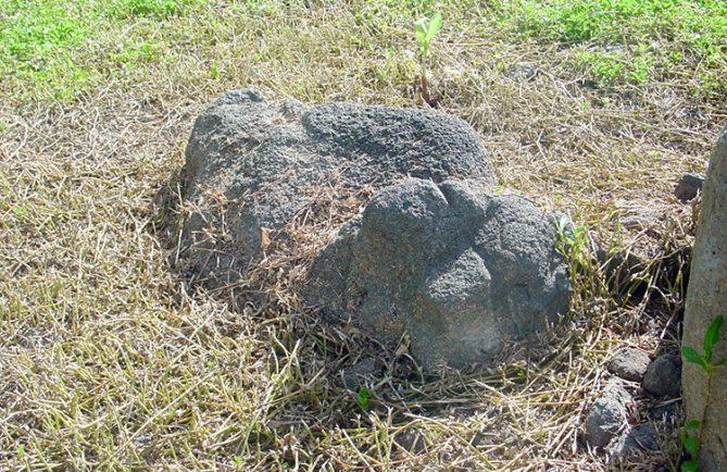 Ofai Uri, la pierre en forme de chien de Papara © Tahiti Heritage