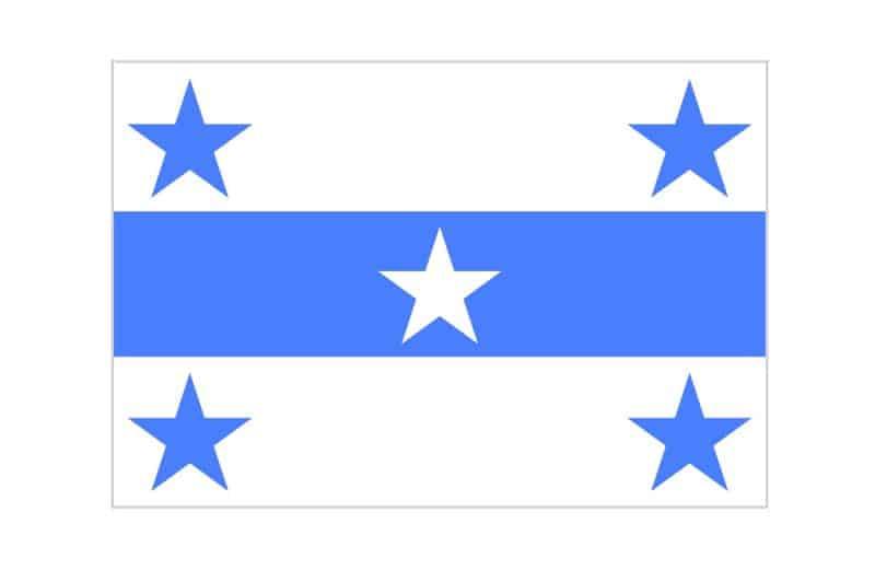 Drapeau de l'archipel des Gambier, Polynésie française