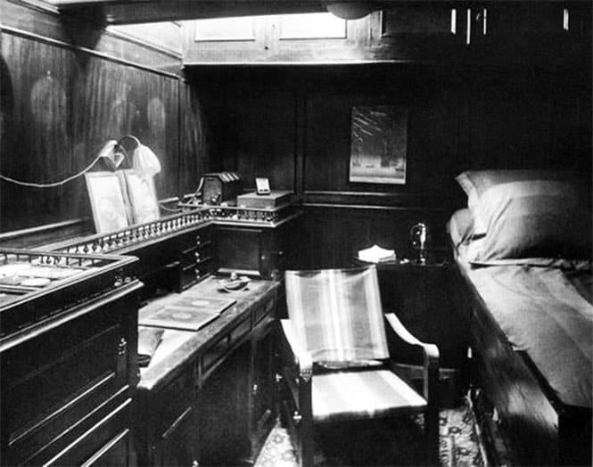 La luxueuse cabine de Etienne et Monique de Ganay sur La Korrigane