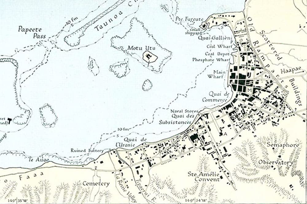 Plan de Papeete en 1931