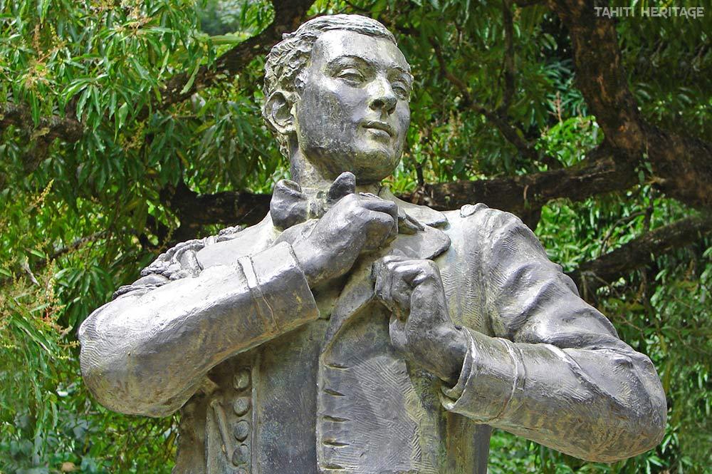 Buste de l'écrivain Pierre Loti. © Tahiti Heritage