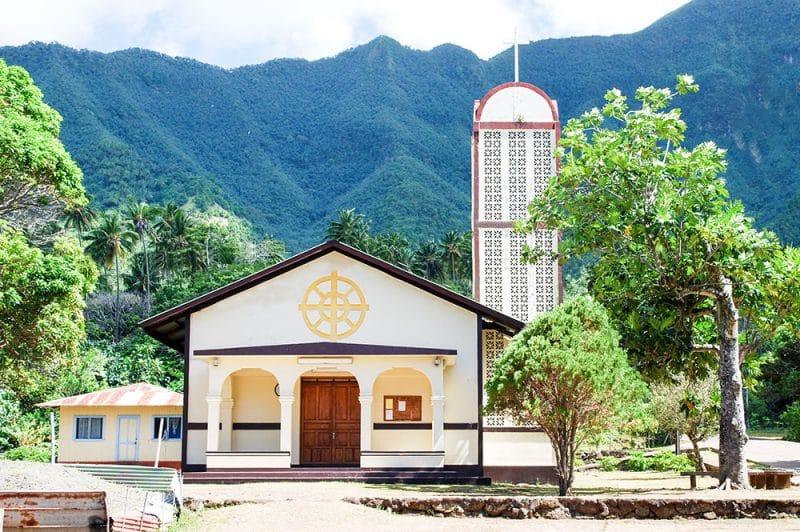 Eglise Sainte-Thérèse-de-l'Enfant-Jésus de Hane à Ua Huka, Marquises