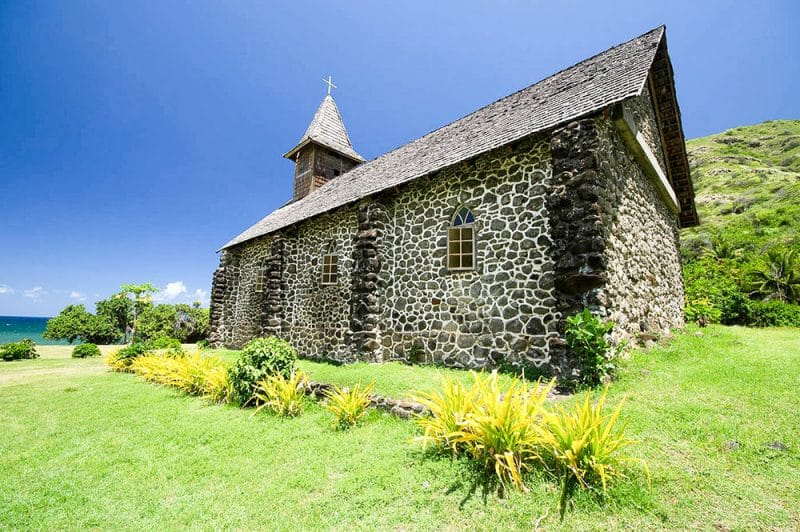 Eglise Notre-Dame du Sacré-Coeur, à Taaoa, Hiva Oa. 2013. Photo Yan Peirsegaele