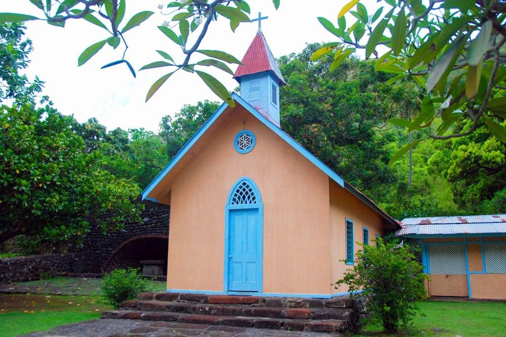 Chapelle de Hooumi à Taipivai, Nuku Hiva