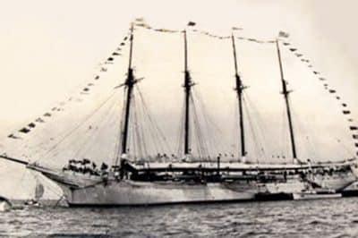 La Kaimiloa, goélette à quatre mâts des Kellum