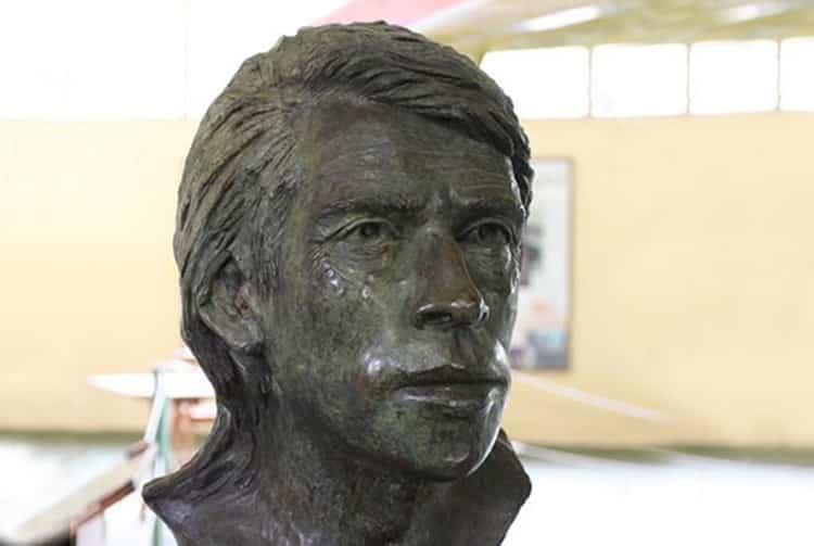 Buste de Jacques Brel au musée d'Atuona, Hiva Oa