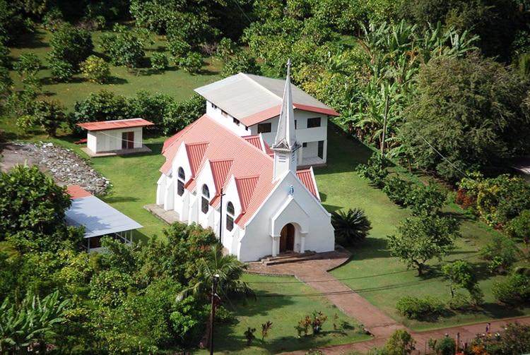 Eglise de Hanavave à Fatu Hiva. Photo Purutaa
