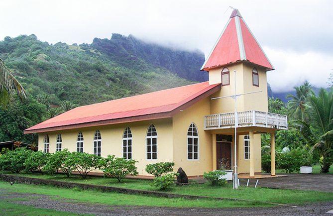 Temple d'Atuona, Hiva Oa, Marquises