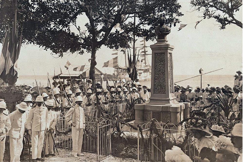 Inauguration du Monument Bougainville le 14 juillet 1909