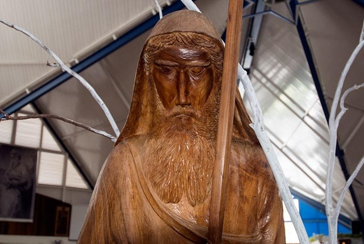 Statue de l'église Saint-Paul de Mahina, Tahiti 2015 © Tahiti Heritage