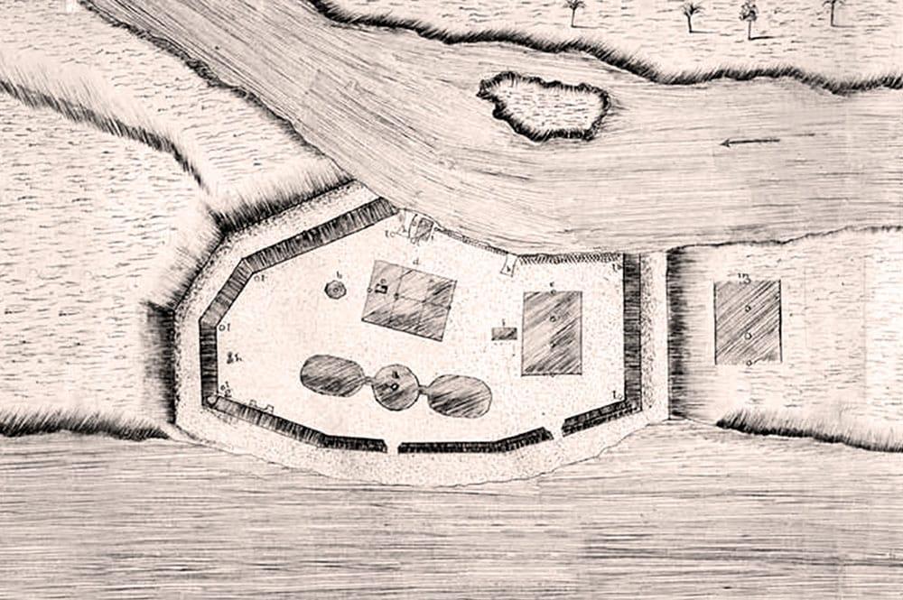 Plan du Fort Vénus, Mahina
