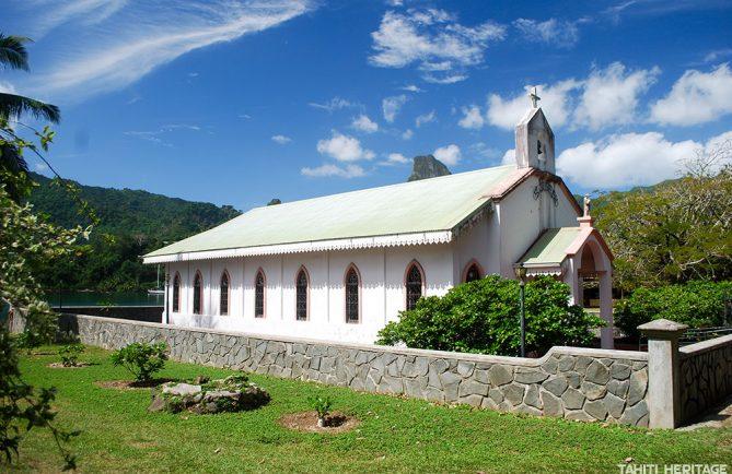 Eglise Saint-Joseph de PaoPao à Moorea © Tahiti Heritage