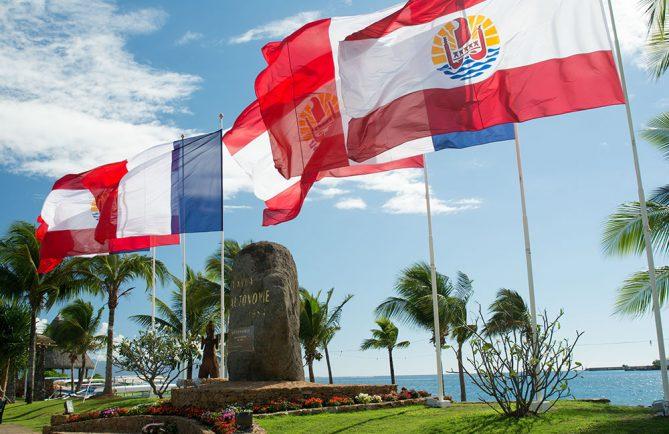 Monument de l'Autonomie, parc Paofai à Papeete
